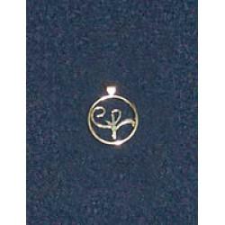 Stirling Silver Logo Pendant (small)